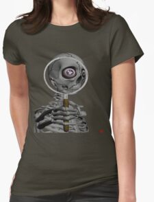 MAGNIFYING GLASS/ MESSAGE IN EYE Womens Fitted T-Shirt