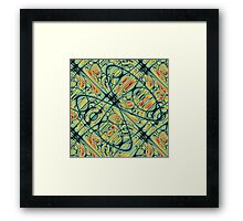 Loops and Threads Framed Print