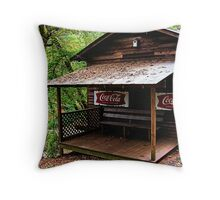 Front of Hurricane Shoals Grist Mill Throw Pillow