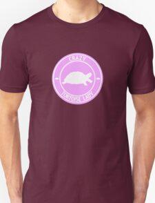 Crazy Tortoise Lady (Pink) Unisex T-Shirt