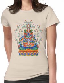 Meditating bear Womens Fitted T-Shirt