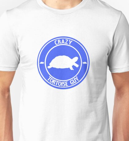 Crazy Tortoise Guy (Blue) Unisex T-Shirt