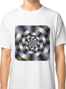 Concentric Circles in Green and Purple Classic T-Shirt