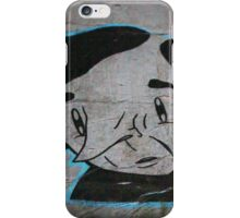 Paper Graffiti Man - Hosier Lane, Melbourne iPhone Case/Skin