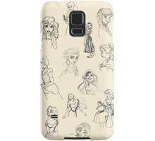 Sketched Princesses Samsung Galaxy Case/Skin