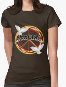 PEACE / MAGINE Womens Fitted T-Shirt