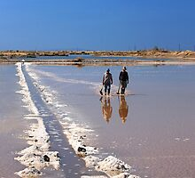 The salt workers - Lagoon of Messolonghi by Hercules Milas