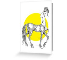 Young centaur with headphones and mp3 player Greeting Card