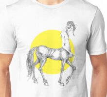 Young centaur with headphones and mp3 player Unisex T-Shirt