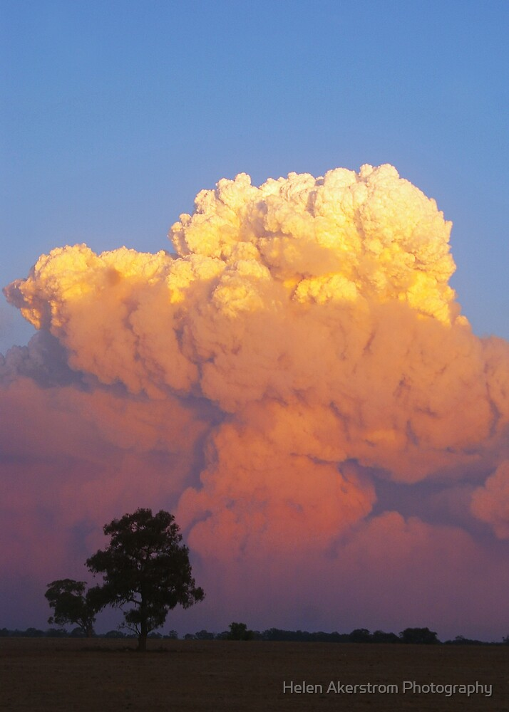 BUSH FIRE CLOUDS by Helen Akerstrom Photography