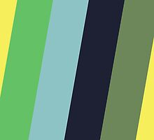 Diagonal Stripes - Yellow Green Blue by jezkemp