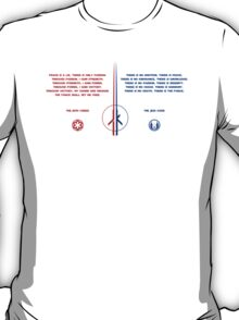 The Jedi and Sith Code T-Shirt
