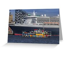 The Queen and the Dazzle Ferry Greeting Card