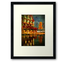 A Single Yellow Tree Framed Print