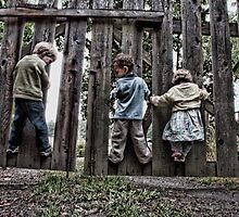Three Kids on a Fence by toby snelgrove  IPA