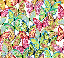 Seamless pattern with butterfly by orgus88