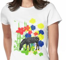 Zebra. Womens Fitted T-Shirt