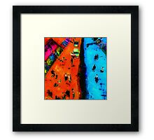 Frog Town Art Walk Framed Print