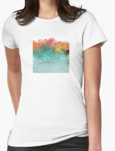 Water Flowing Up Abstract Design Womens Fitted T-Shirt
