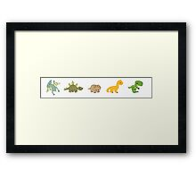 Dinosaur Line-up  Framed Print
