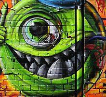 Mike Wazowski from Monsters Inc - Hosier Lane, Melbourne by mattykb