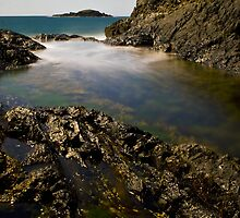 Rockpool long exposure by Christopher R Pitts