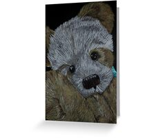 Snuggle with my little bear Greeting Card