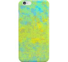 Abstract in Blue, Gold, and Green iPhone Case/Skin