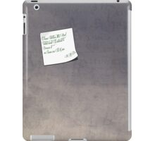 R.A.B's Note iPad Case/Skin