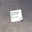 R.A.B's Note by Barbora  Urbankova