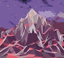 Night Mountains No. 6 by BakmannArt