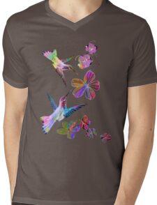 Birds. Mens V-Neck T-Shirt