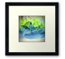 The Blue Pond Landscape Design Framed Print