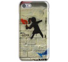 Girl Throwing Firebomb - Banksy Style - Hosier Lane, Melbourne iPhone Case/Skin