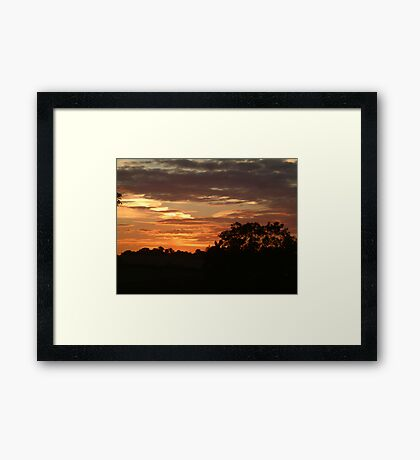 Sunset over North Yorkshire Framed Print