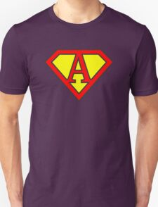 A letter in Superman style T-Shirt