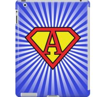A letter in Superman style iPad Case/Skin