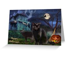 Halloween Cats Greeting Card