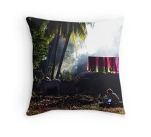 The washing day Throw Pillow