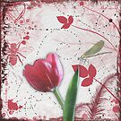 Tulip & Dragonfly by Lesley Smitheringale