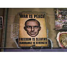 1984 Style Poster with Tony Abbott Photographic Print