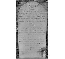 epitaph Photographic Print