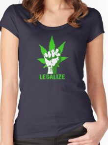 LEGALIZE Women's Fitted Scoop T-Shirt