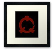 Reflex - Red Logo Framed Print