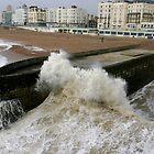 Stormy day at Brighton by Kathie  Thomson