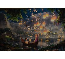 Disney Tangled Disney Rapunzel Floating Lanturns  Photographic Print