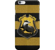 Hufflepuff crest iPhone Case/Skin