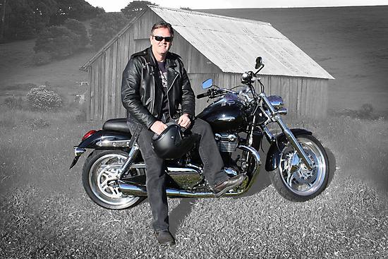 Tony's Triumph Thunderbird by Keith G. Hawley