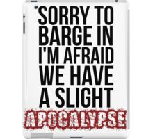A Slight Apocalypse - Rupert Giles BTVS iPad Case/Skin