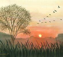 Early Morning Flight by Joan A Hamilton